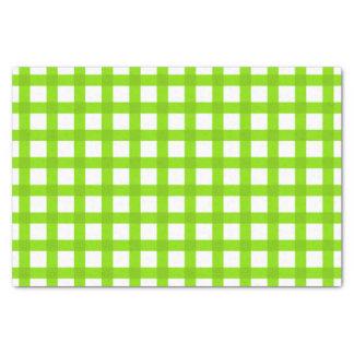 Grünes Gingham-Muster Seidenpapier