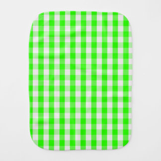 Grünes Gingham-Neonmuster durch Shirley Taylor Baby Spucktuch
