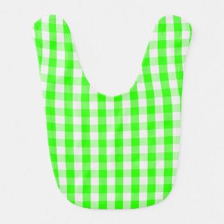 Grünes Gingham-Neonmuster durch Shirley Taylor Babylätzchen