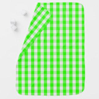 Grünes Gingham-Neonmuster durch Shirley Taylor Kinderwagendecke