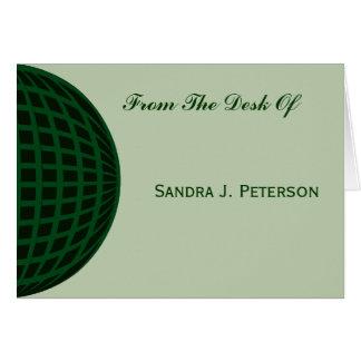 Grünes globales Geschäft Mitteilungskarte