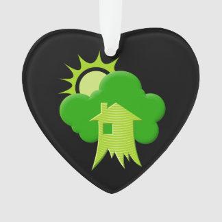 Grünes Haus Ornament