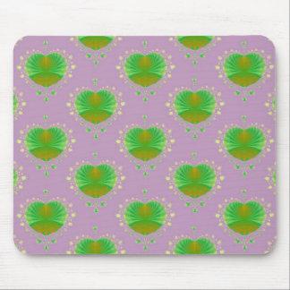 Grünes Herz Mousepad