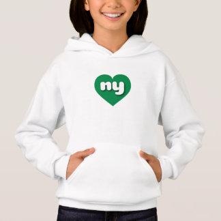 Grünes Herz New York - MiniLiebe Hoodie