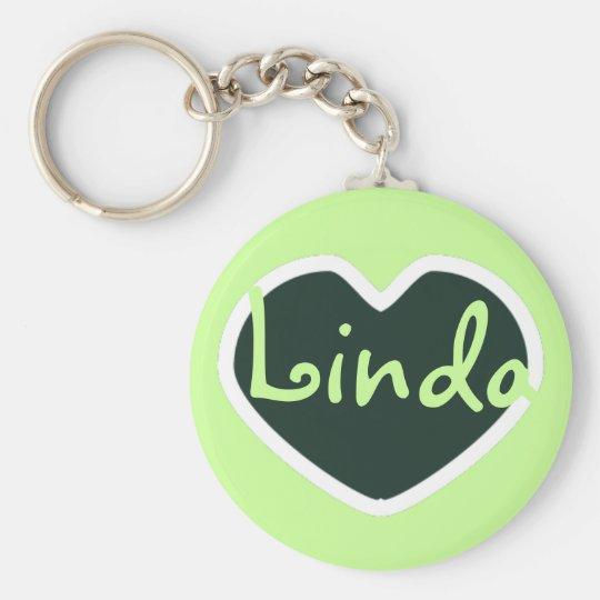 grünes Herzname keychain Schlüsselanhänger