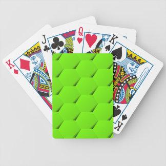 Grünes Hexagon Bicycle Spielkarten