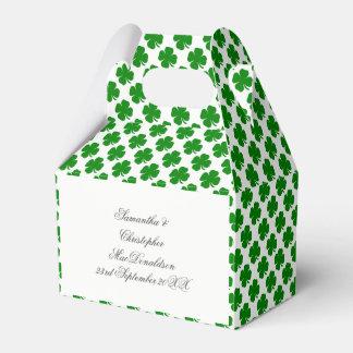 Grünes irisches Kleeblattmuster Geschenkschachtel