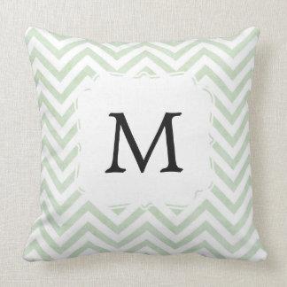 Grünes Kissen personalisiert mit Buchstaben