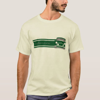 Grünes klassisches Mini Cooper-T-Shirt T-Shirt