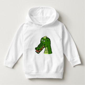 Grünes Krokodil - Kleinkind-Strickjacke Hoodie