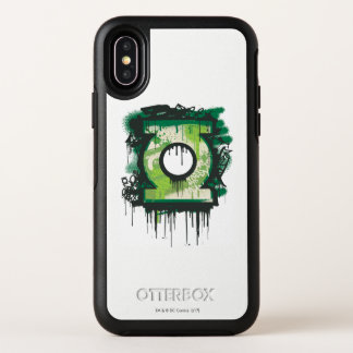 Grünes Laternen-Graffiti-Symbol OtterBox Symmetry iPhone X Hülle