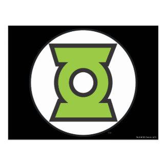 Grünes Laternen-Logo 11 Postkarte