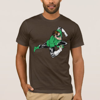 Grünes Laternen-Sprungs-Recht T-Shirt