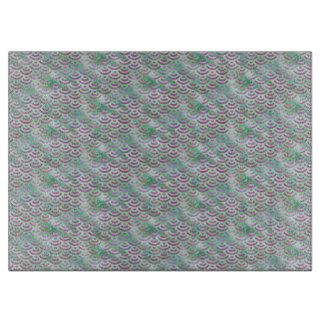 Grünes lila Meerjungfrau-Pastell-Muster Schneidebrett