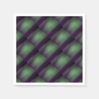 Grünes Lila mit Ziegeln gedeckt Serviette