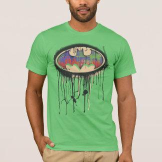 Grünes lila rotes Logo des Batman-Symbol-| T-Shirt