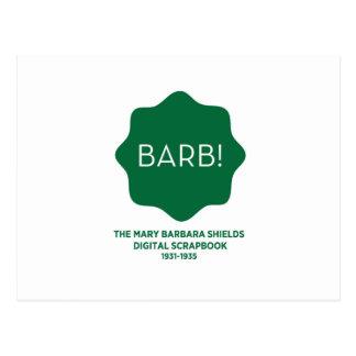 Grünes Logo Postkarte