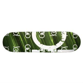 Grünes Metall beleuchtet abstrakten Text 18,1 Cm Old School Skateboard Deck