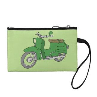 """Grünes Motorscooter """"Schwalbe """" Kleingeldbörse"""