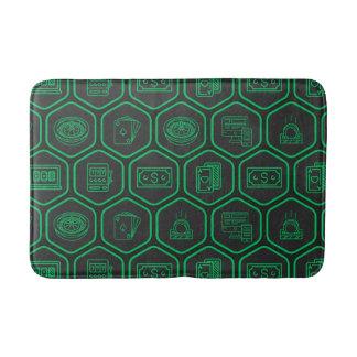 Grünes Muster Badematte