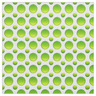 Grünes Muster der Tupfen Stoff