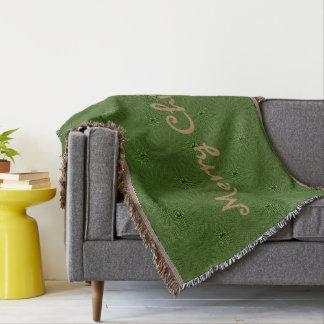 Grünes Muster-Weihnachten Decke