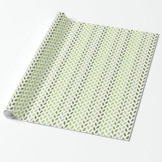 Grünes Öko-Blätter Geschenkpapier