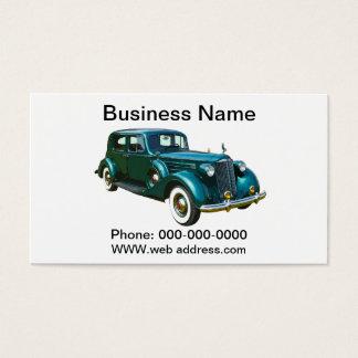 Grünes Packard Luxus-Auto Visitenkarte
