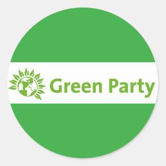 Grünes Party Großbritannien-Logo Runder Aufkleber