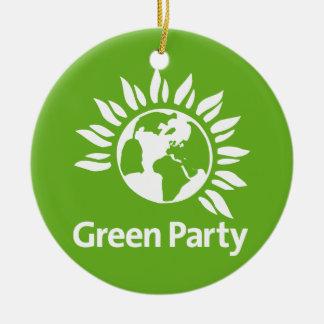 Grünes Party von England und von Wales Keramik Ornament