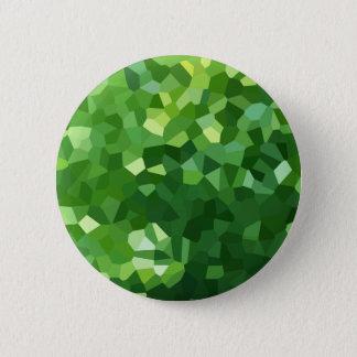 Grünes Polygon-Form-beflecktes Glas-Mosaik Runder Button 5,1 Cm