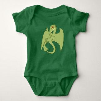 Grünes Pterosaur Baby Strampler