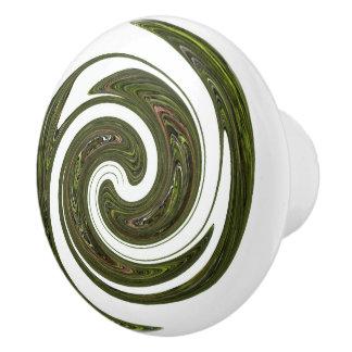 Grünes Rad Keramikknauf