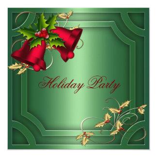 Grünes rotes Bell-Unternehmensfeiertags-Party Karte