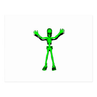 Grünes Skelett Postkarte