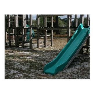 Grünes Spielplatzdia, hölzerne Dschungelturnhalle Postkarten