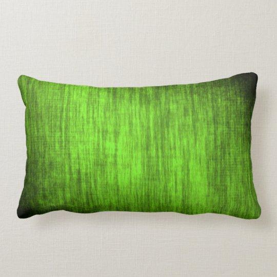 Grünes Steifenmuster Kissen
