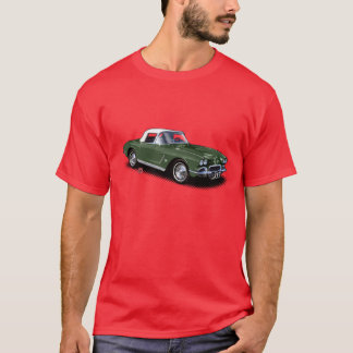 Grünes Stingvetteray auf rotem T - Shirt