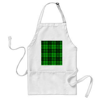Grünes Tartan-Wolle-Material Schürze