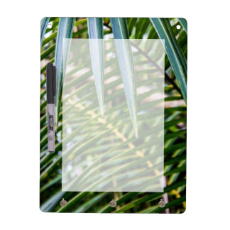Grünes tropisches Blätter Trockenlöschtafel
