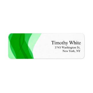 Grünes u. weißes einfaches elegantes unbedeutendes rücksendeetiketten