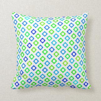 Grünes und blaues Kreis-Quadrat-Kissen Kissen