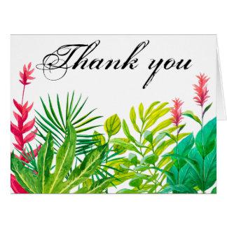 Grünes und rotes Blätter dankt Ihnen Riesige Grußkarte