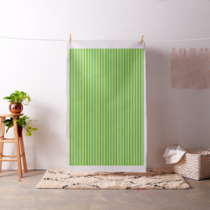 Grünes und weißes Streifen-Gewebe Stoff