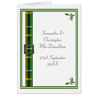 Grünes und weißes Tartanband 2 Karte
