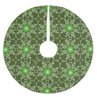 Grünes Weihnachtsdekoratives Poinsettiamuster Polyester Weihnachtsbaumdecke