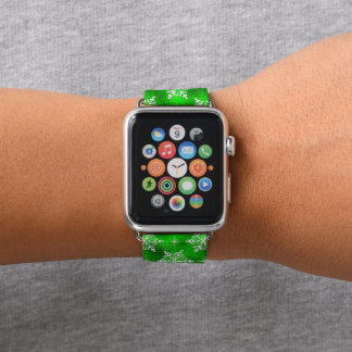 Grünes weißes apple watch armband