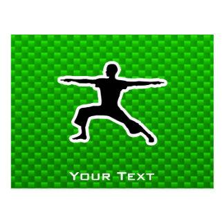 Grünes Yoga Postkarte