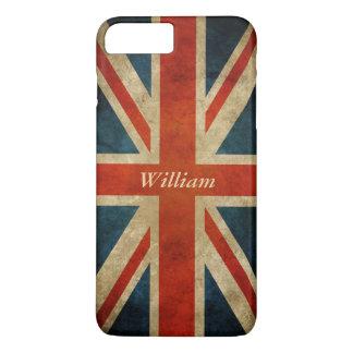 Grunge-alte BRITISCHE Flagge - iPhone 8 Plus/7 Plus Hülle