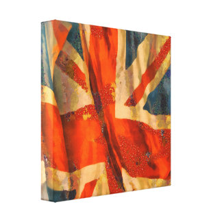 Grunge-Art-Gewerkschafts-Jack-britisches Gespannte Galeriedrucke